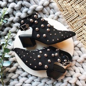 Shoes - BLACK STUD Booties
